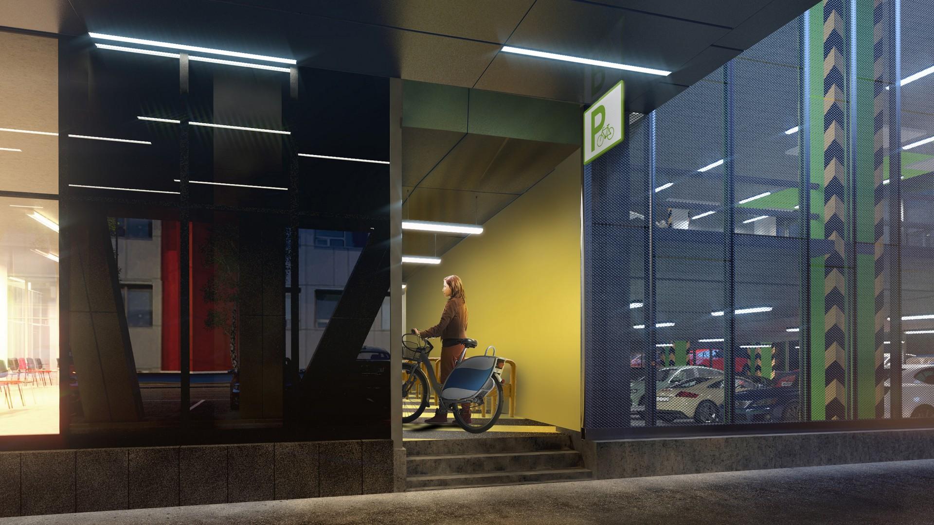 027 Bicycle parking